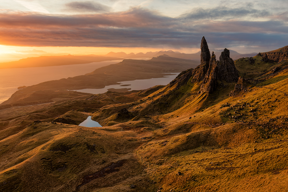 Old Man of Storr, ostrov Skye, Skotsko