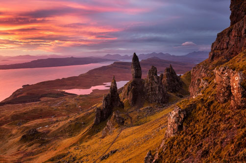 Old Man of Storr, Skye, Skotsko
